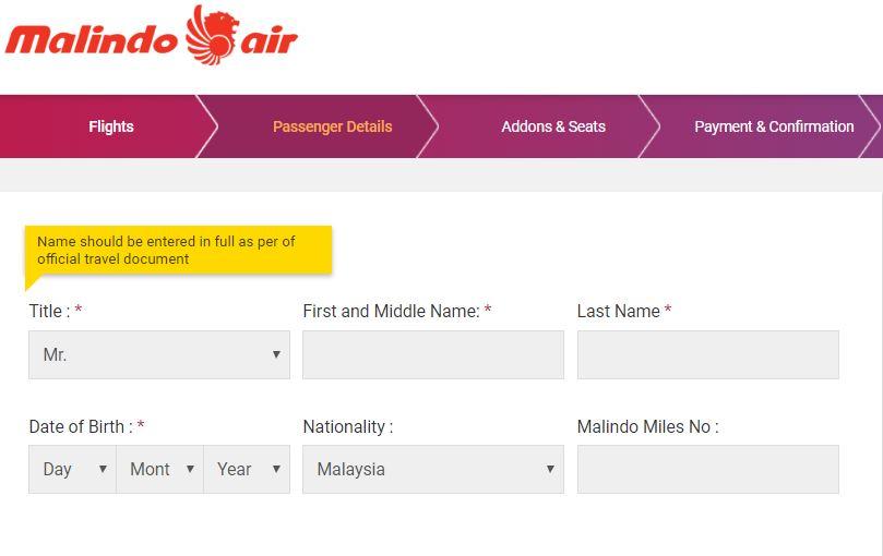 Cara Beli Tiket Kapal Terbang Flight Malindo Air Secara