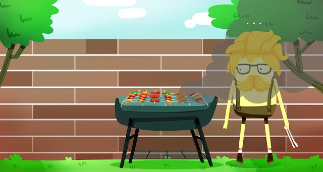 Hello Yellow Friends Comic - BBQ Time.
