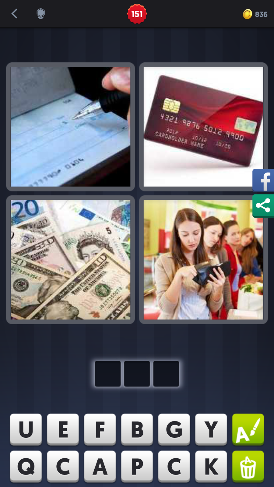 4 Pics 1 Word Answers Solutions Level 151 Pay