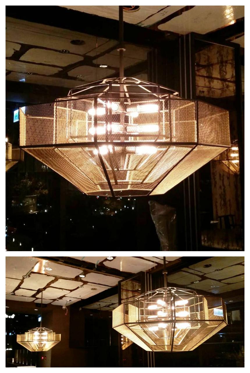 Dinli Lighting 鼎立燈飾有限公司 - 專業訂製燈具: 訂製室內鐵網造型吊燈