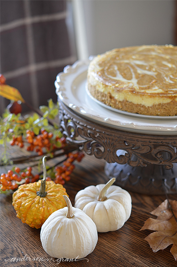 The ultimate Pumpkin Cheesecake recipe for Thanksgiving | www.andersonandgrant.com