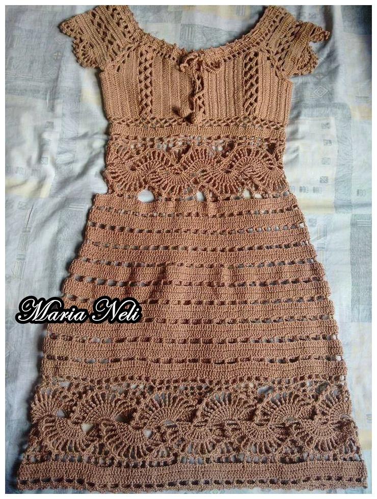 6f53ced5e991 Quer comprar um vestido como este ou outras peças em crochê? A Maria Neli  envia para todo Brasil , curtam a sua página e vejam como fazer sua  encomenda aqui ...