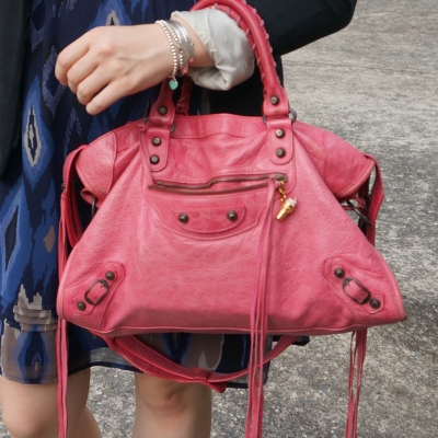 Balenciaga RH classic city in 2010 sorbet pink | away from the blue