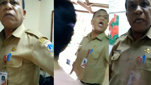 """VIDEO : """"Mau Lapor Ahok? Saya Tidak Takut """" PNS Ini Marah & Membentak Ke Warganya"""