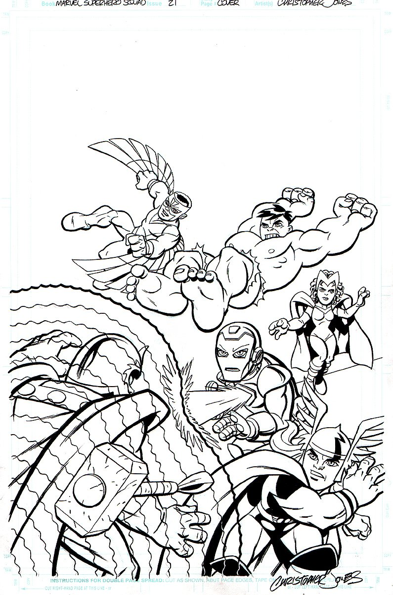 free superhero squad coloring pages - photo #28