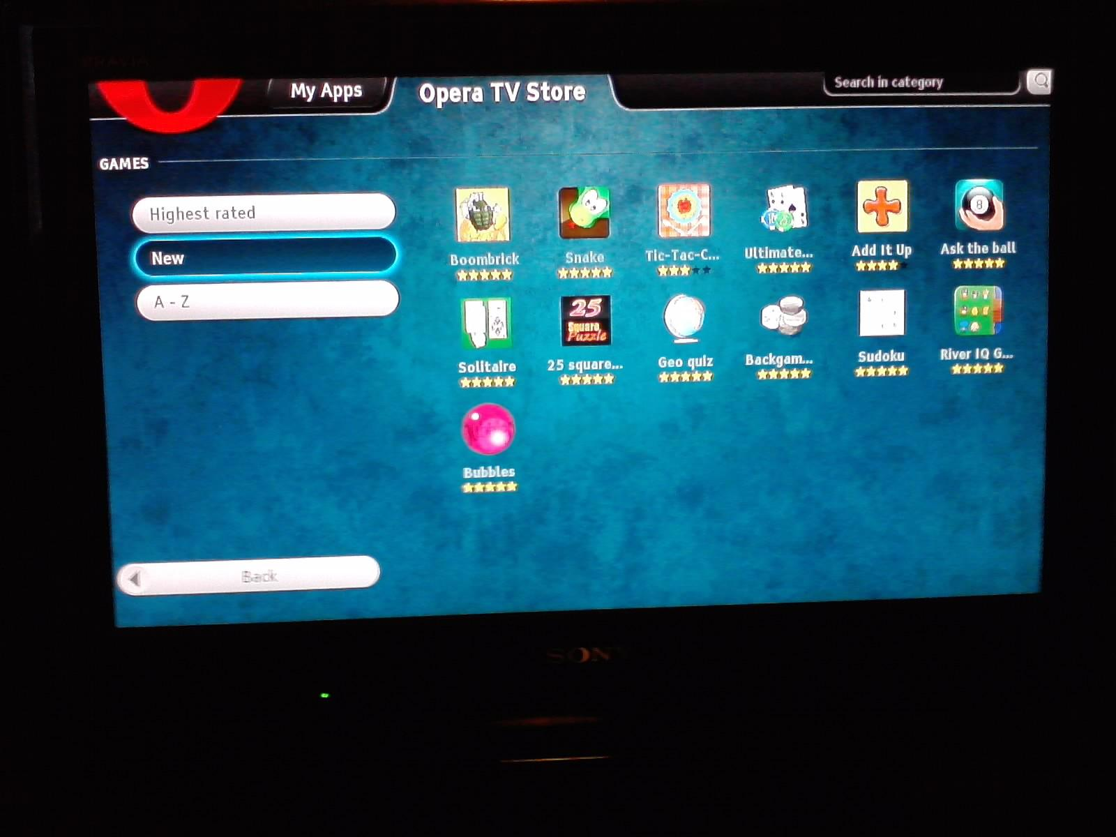 BRAVIA Internet Video : Smart TV from Sony: Opera TV Store