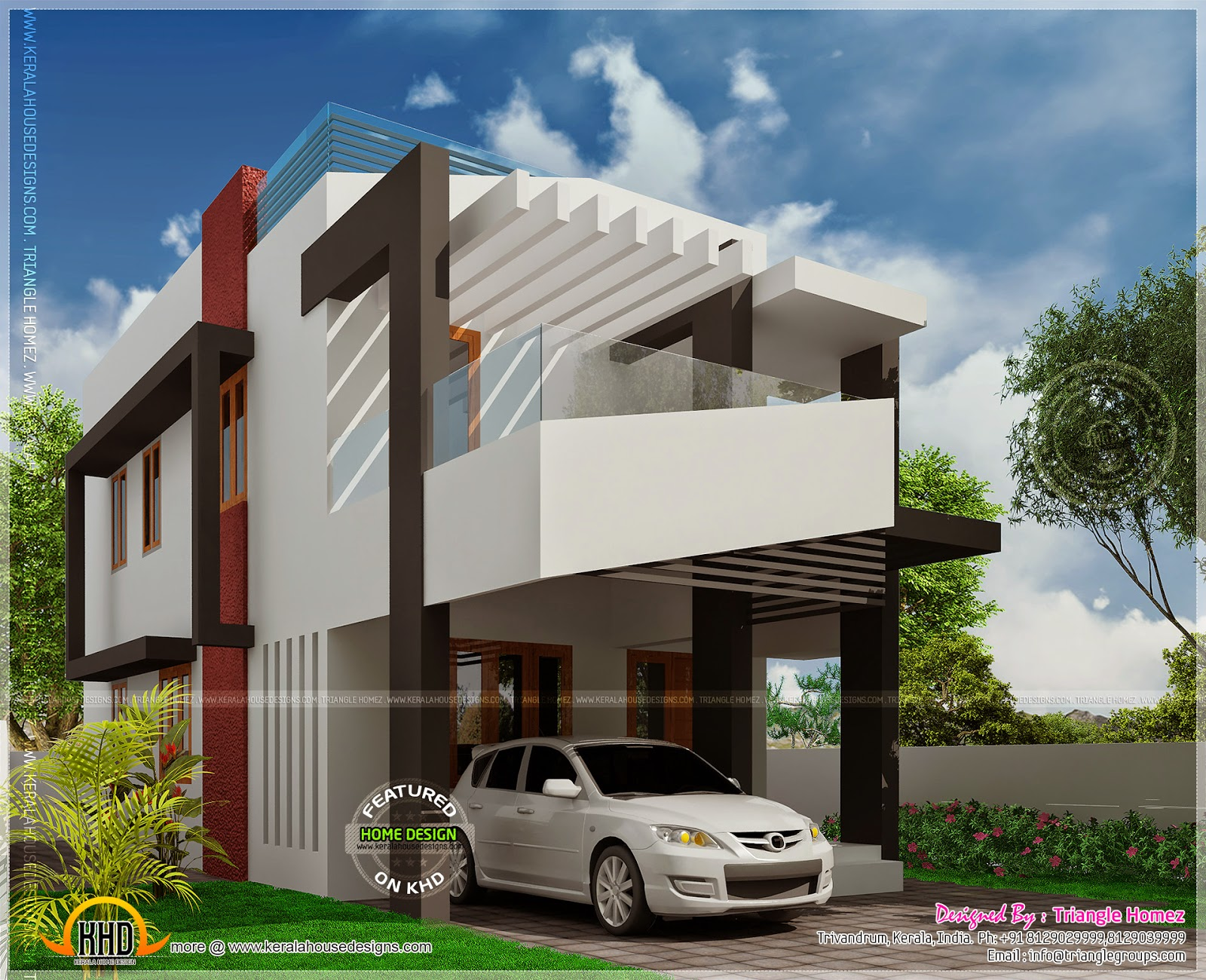 House elevation with after completion photo kerala home for Contemporary home elevations