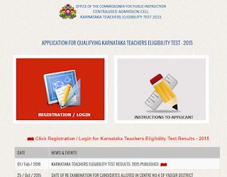 Karnataka Teacher eligibility test exam result