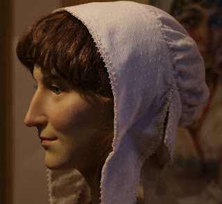 Waxwork of Jane Austen  on display at the Jane Austen Centre in Bath
