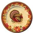 Creative Converting Thanksgiving Blessing Round Banquet Plates
