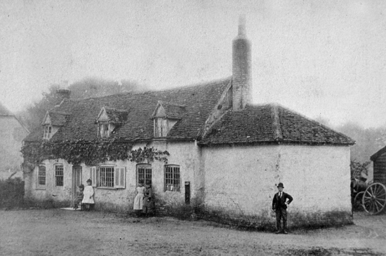 The Old Bakery, Bell Bar, at corner of Bulls Lane, c1880 Image courtesy of the former North Mymms Local History Society