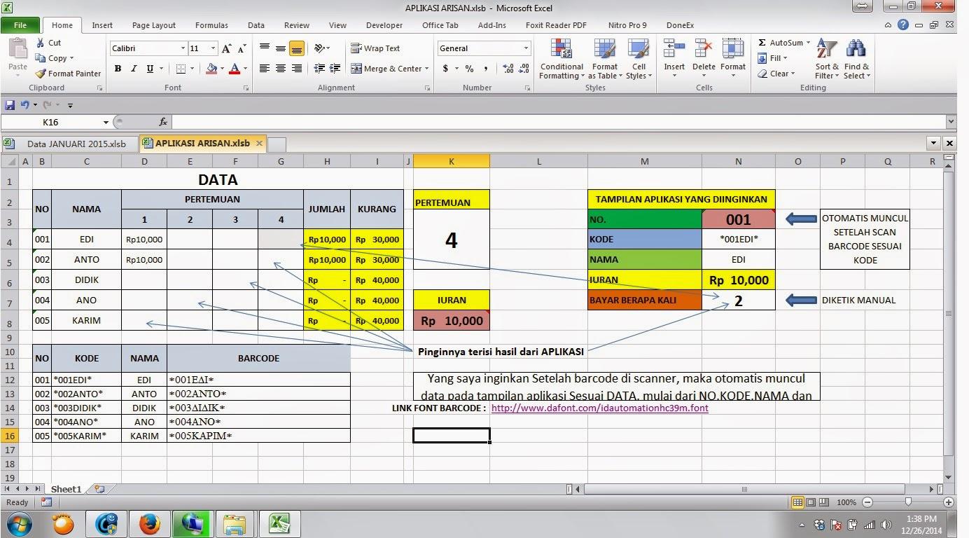 Prajurit Manunggal Membuat Aplikasi Arisan Dengan Vb Excel