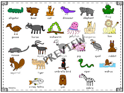 https://www.teacherspayteachers.com/Product/Alphabet-Animals-Directed-Drawing-3244236