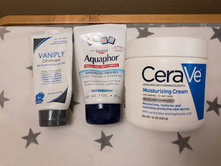 Vaniply, Aquaphor, CeraVe