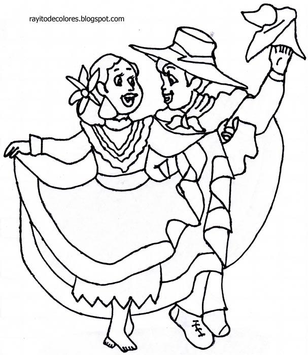 baile la marinera colorear