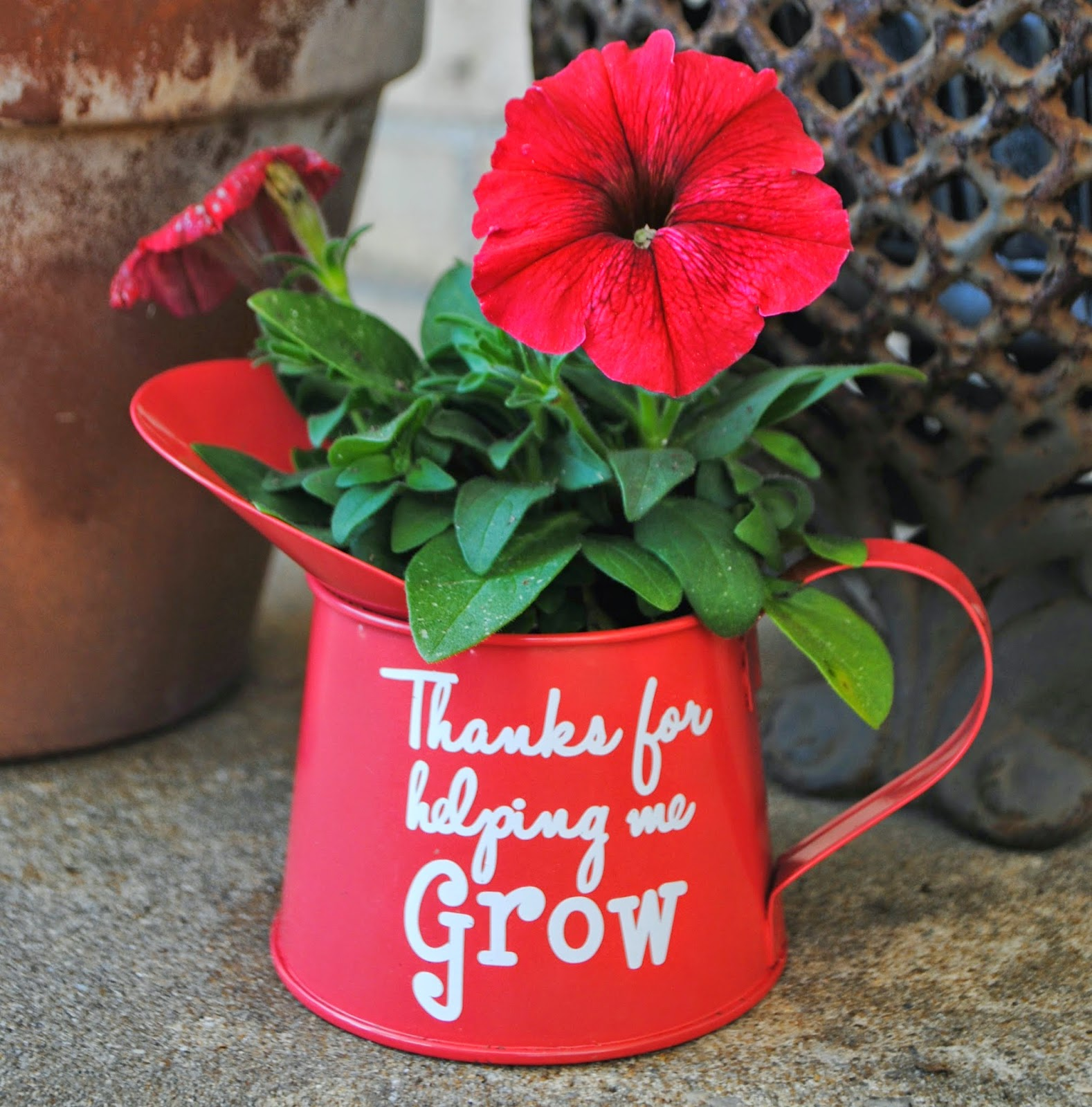 Do it yourself, DIY, teacher gift, flower pot, watering can