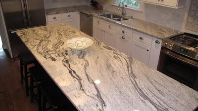 Desain Meja Dapur Dari  Batu Marmer Untuk Rumah Minimalis 6