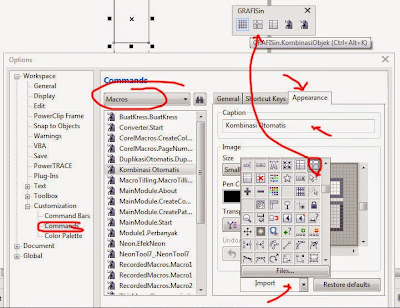 Mengatur Icon pada Toolbar Baru CorelDraw