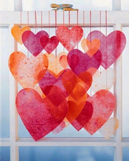 шторы из сердечек