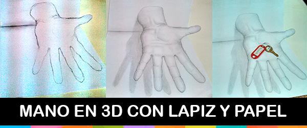 Mano en 3D http://creativityandesign.blogspot.com.ar/