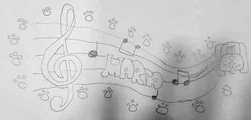 dibujo de música hecho por Marta