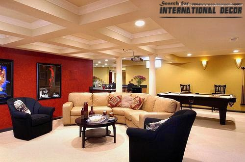 Coffered ceiling for living room interior design