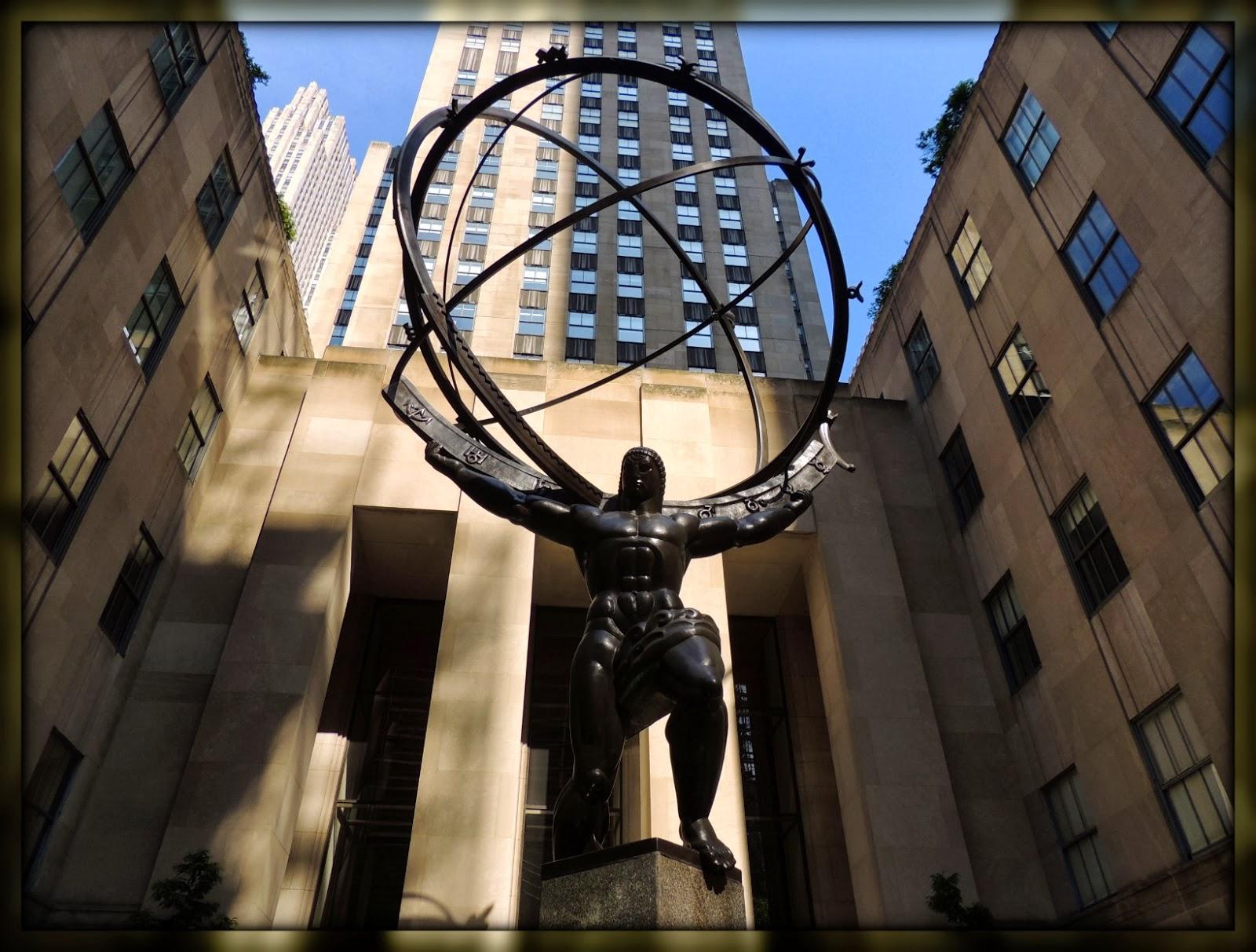 NY en 3 Días: Escultura de Atlas en el Rockefeller Center