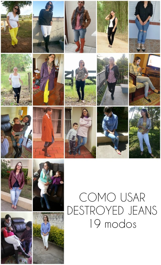 Como usar destroyed jeans