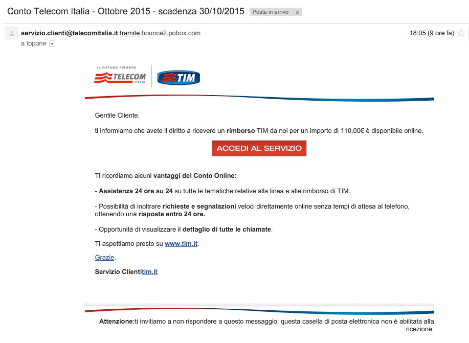 bollette telecom italia