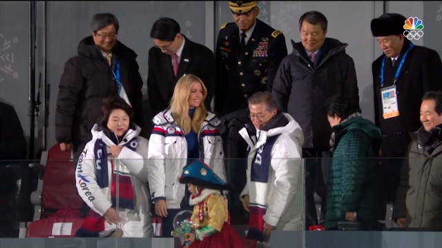 PyeongChang 2018 Winter Olympics Closing Ceremony Moon Jae-in Ivanka Trump balcony