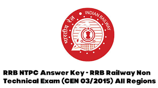 RRB NTPC Answer Key