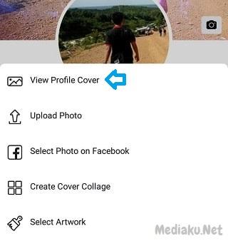 Menghapus Foto Sampul Facebook Lewat HP