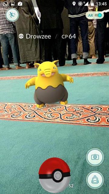 Aplikasi Game Pokemon Go Kini Merambah Masjid