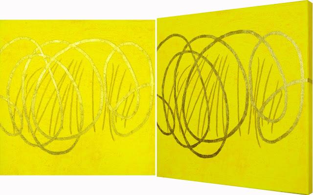 Bild No. 220212 GZ  Acryl und Blattgold auf Leinwand XL, 50 x 50 cm, Dagmar  Mahlstedt