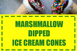 Marshmallow Dipped Ice Cream Cones
