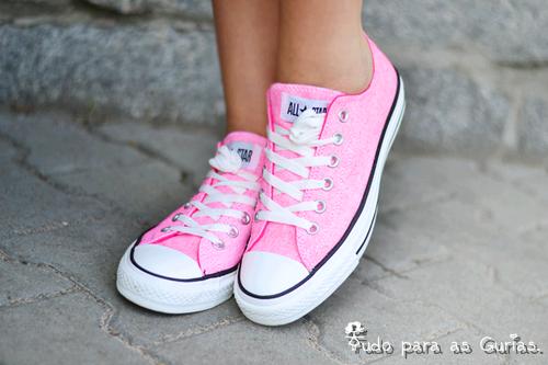 Especial: Outubro Rosa ; tênis rosa