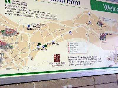 mapa osario kutna hora