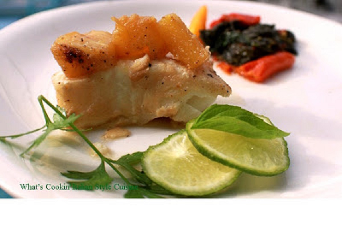 Chilean Sea Bass With Pineapple and Lime Butter
