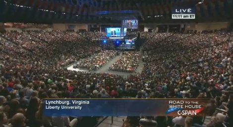 Bernie Sanders delivers at Liberty University