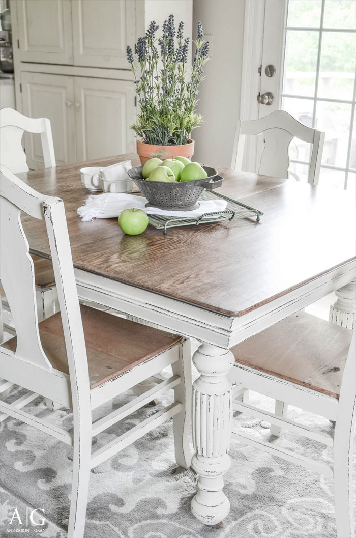 Antique Dining Table Updated with Chalk Paint | anderson ...