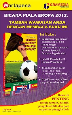 X-Banner Buku Klinik Sepak Bola MENJADI PEMAIN HEBAT SEKALIPUN TANPA BAKAT, Nongol di TB Gramedia