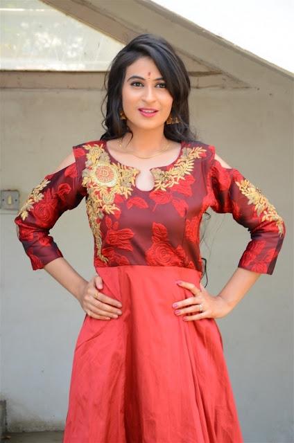 Priya Choudhary Pic In Red Long Dress