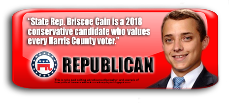 STATE REPRESENTATIVE BRISCOE CAIN WILL BE ON THE BALLOT IN HARRIS COUNTY, TEXAS ON NOVEMBER 6, 2018