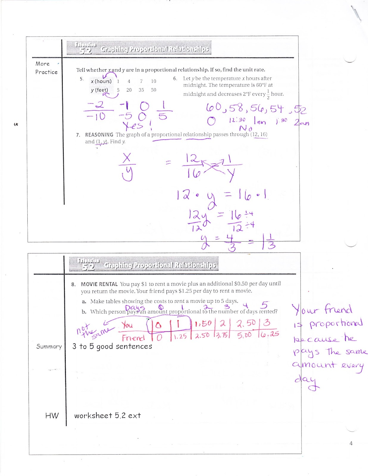 worksheet Graphing Proportional Relationships Worksheet ms jeans classroom blog 5 2 extension graphing proportional relationships