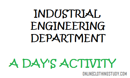 industrial engineering department activity