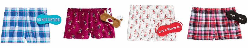 Jenni by Jennifer Moore Boxer Shorts and Eye Mask Sets for only $2.45 (reg $24.50)