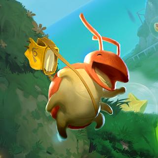 Yoku Yoku's Island Express dung beetle main character happy face