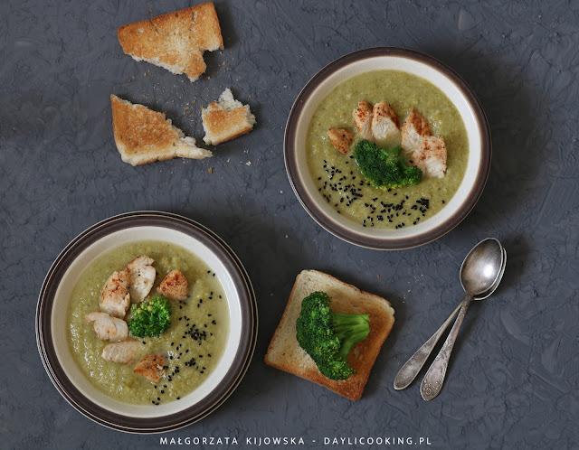 zupa z brokuła, jak ugotować brokuł?, przepis na zupę brokułową, daylicooking