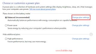 pengaturan baterai windows 10