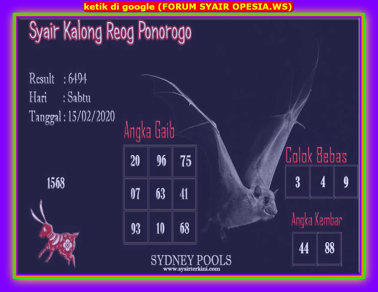 Kode syair Sydney Sabtu 15 Februari 2020 148